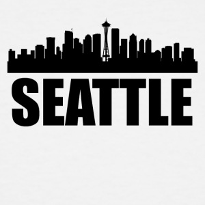 Seattle WA Skyline - Men's Tall T-Shirt