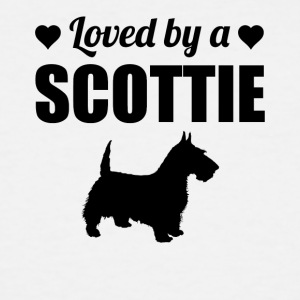 Loved By A Scottie - Men's Tall T-Shirt
