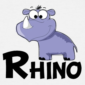 Cartoon Rhino - Men's Tall T-Shirt