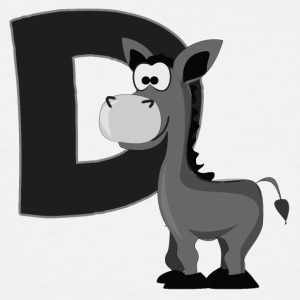 D Is For Donkey - Men's Tall T-Shirt