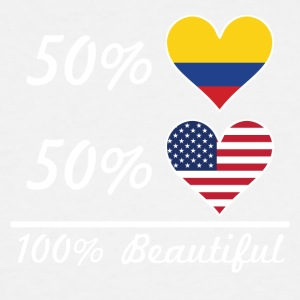 50% Colombian 50% American 100% Beautiful - Men's Tall T-Shirt