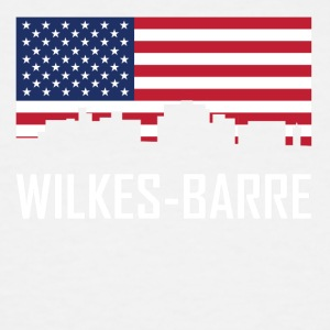 Wilkes-Barre Pennsylvania Skyline American Flag - Men's Tall T-Shirt