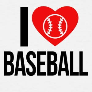 I LOVE BASEBALL - Men's Tall T-Shirt