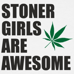 STONER GIRLS ARE AWESOME!!! ❤ - Men's Tall T-Shirt