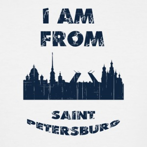 Saint Petersburg I am from - Men's Tall T-Shirt