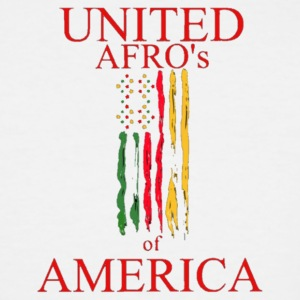 UNITED AFRO'S OF AMERICA - Men's Tall T-Shirt