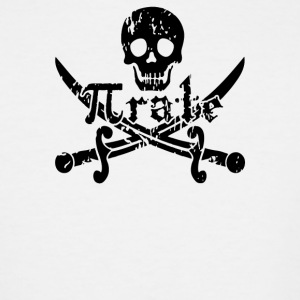 Pirate Skull and Crossbones Math Pi Rate - Men's Tall T-Shirt