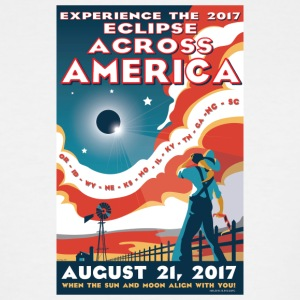 Official 2017 Eclipse Across America Gear - Men's Tall T-Shirt