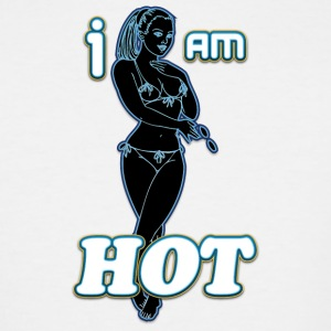 I_AM_HOT_SEXY_GIRL_black_neon - Men's Tall T-Shirt