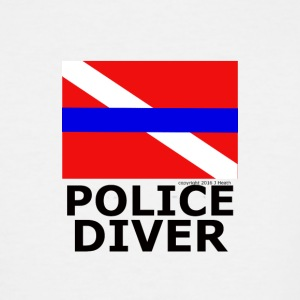 Police Diver Flag - Men's Tall T-Shirt