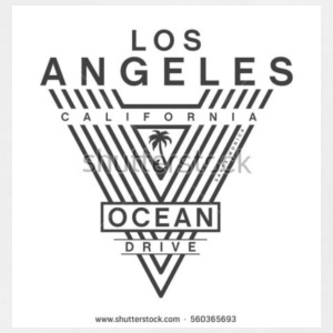 LOS ANGELES ocean drive typography tee - Men's Tall T-Shirt