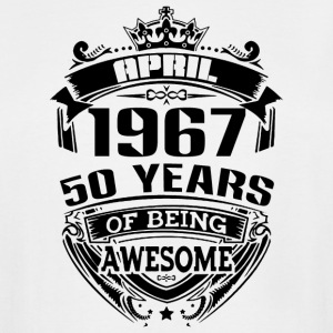 april 1967 50 years of being awesome - Men's Tall T-Shirt