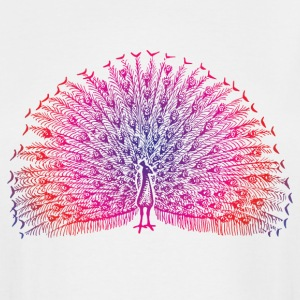 Bright Colorful Peacock - Men's Tall T-Shirt