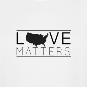Love Matters (black) - Men's Tall T-Shirt