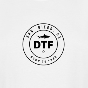 DTF, or DOWN TO FUND - Men's Tall T-Shirt