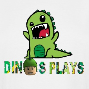 dinos plays - Men's Tall T-Shirt