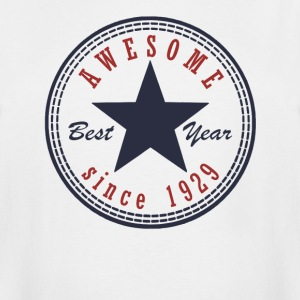 88th Birthday Awesome since T Shirt Made in 1929 - Men's Tall T-Shirt