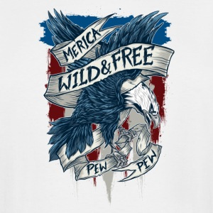 Merica home of the wild free eagle - Men's Tall T-Shirt