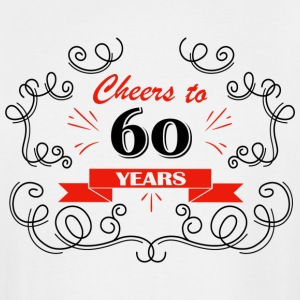 Cheers to 60 years - Men's Tall T-Shirt