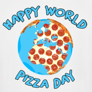 Happy World Pizza Day - Men's Tall T-Shirt
