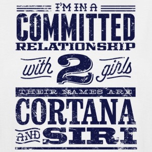 Cortana and Siri - Men's Tall T-Shirt