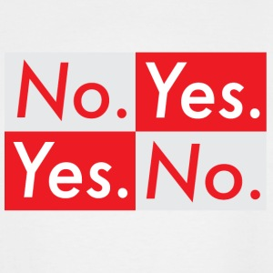 no.yes. - Men's Tall T-Shirt