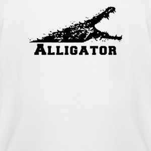 Alligator with Open Mouth - Men's Tall T-Shirt