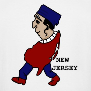 A funny map of New Jersey 4 - Men's Tall T-Shirt