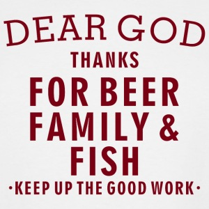 Fishing Lover - Beer Family Fish - Men's Tall T-Shirt