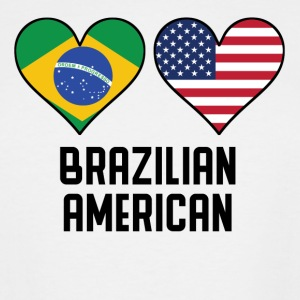 Brazilian American Heart Flags - Men's Tall T-Shirt