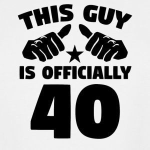 This Guy Is Officially 40 Years Old 40th Birthday - Men's Tall T-Shirt