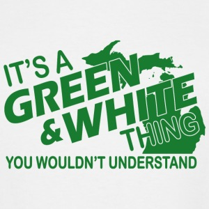 Green and white - it's a green and white thing y - Men's Tall T-Shirt