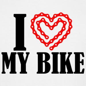 Bike - i heart my bike - Men's Tall T-Shirt