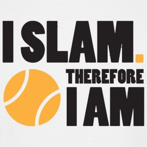 Tennis - Tennis: I slam. Therefore I am - Men's Tall T-Shirt