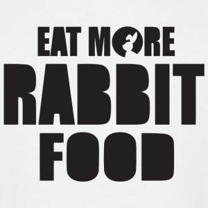 Rabbit - Eat more rabbit food! - Men's Tall T-Shirt