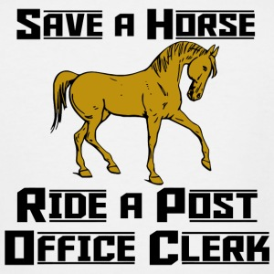 Horse - save a horse ride a post office clerk - Men's Tall T-Shirt