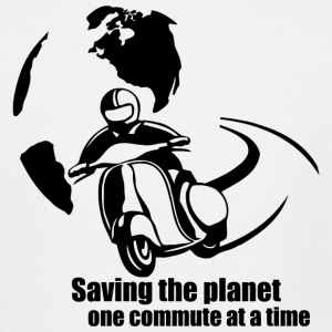 Men - saving the planet one commute at a time - Men's Tall T-Shirt