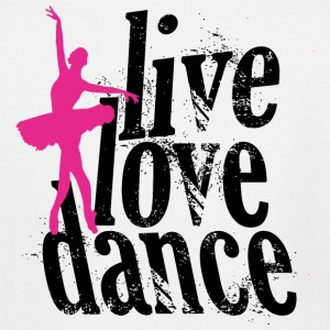 DANCE - LIVE LOVE DANCE - Men's Tall T-Shirt