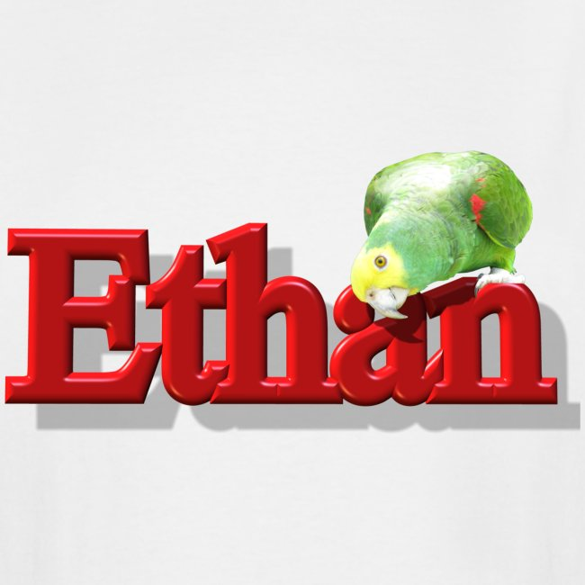 Ethan With a Parrot