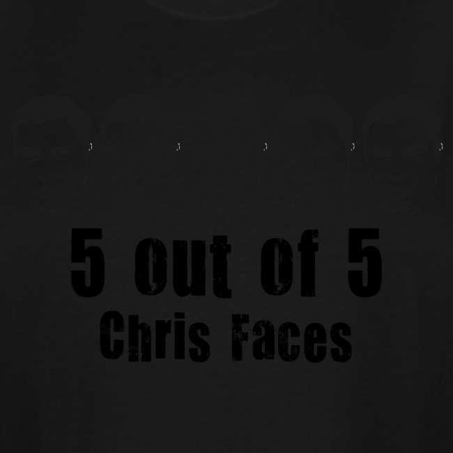 chris faces tshirt black