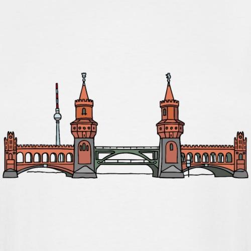 Oberbaum Bridge Berlin - Men's Tall T-Shirt