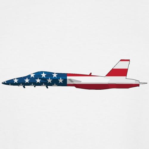 American Flag Military Jet - Men's Tall T-Shirt