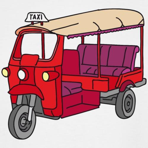 Red Tuktuk or autorickshaw - Men's Tall T-Shirt