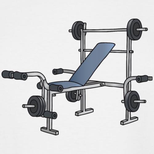 Weight bench, bodybuilding, workout - Men's Tall T-Shirt