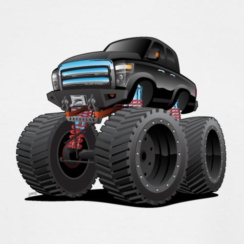 Monster Pickup Truck Cartoon - Men's Tall T-Shirt