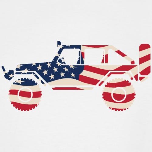 American Patriotic Off Road 4x4 - Men's Tall T-Shirt