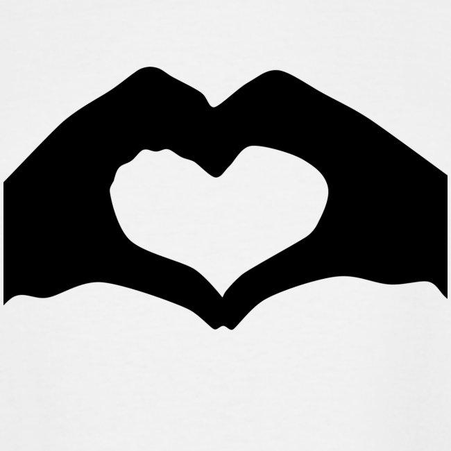 Silhouette Heart Hands | Mousepad