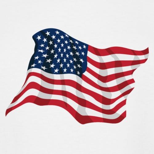 American Pride USA Flag Waving - Men's Tall T-Shirt