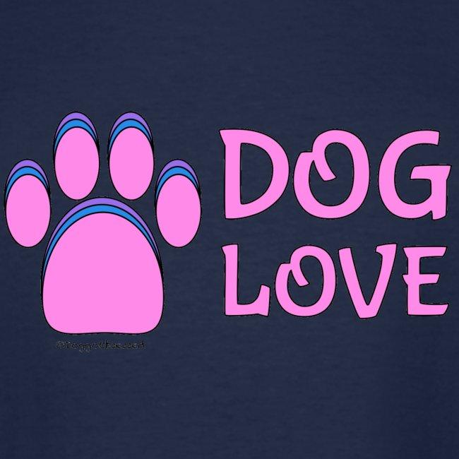 "Pink Dog paw print ""Dog Love"""