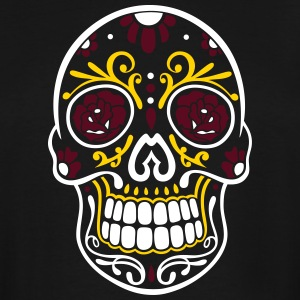 Traditional Mexican sugar skull, day of the dead. - Men's Tall T-Shirt